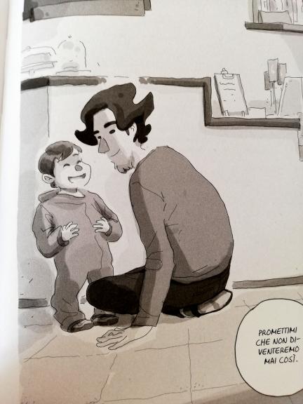 Alberto Madrigal e il figlio, al bar la domenica mattina